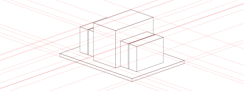 Transformer shape built with simple rectangles in Adobe Illustrator.