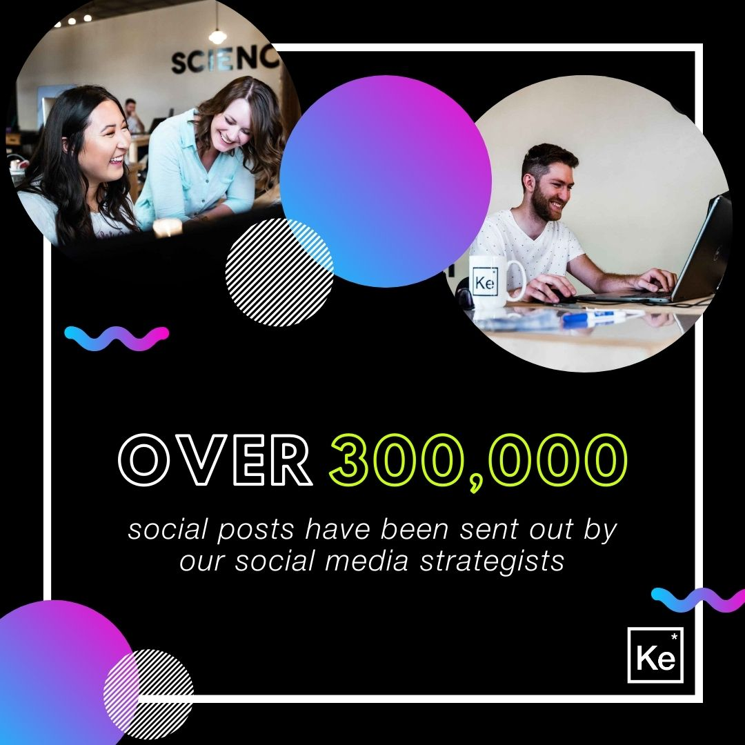 Over 300,000 social posts